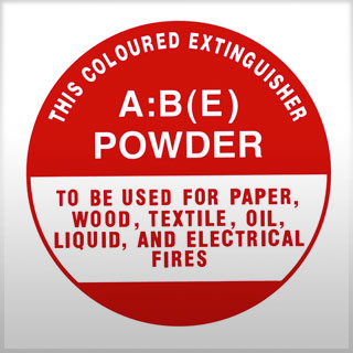 ID Sign - ABE DCP extinguisher