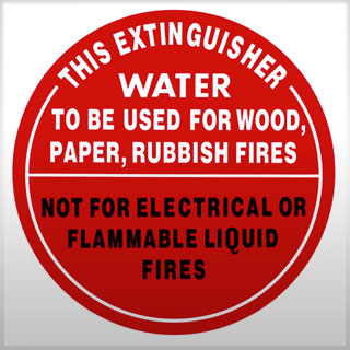 Identification Sign - Air Water Extinguisher