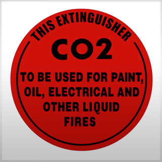 ID Sign - Carbon Dioxide fire extinguisher