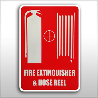 Small Location Sign - Fire Extinguisher & Hose Reel