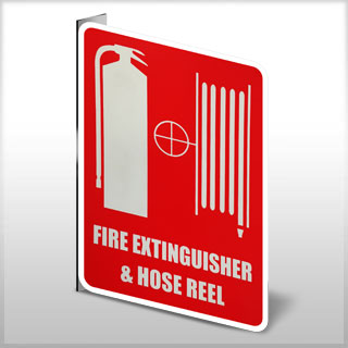 Location Sign - Small Fire Extinguisher & Hose Reel