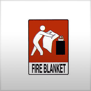 Location Sign for Fire Blanket
