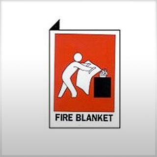 Location Sign - Right Angle Fire Blanket