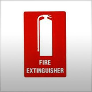 Self-Adhesive Small Fire Location Sign