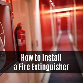 Fire Equipment Online - How To Install a Fire Extinguisher