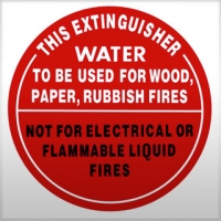 Class A Fire Extinguisher Sign