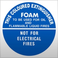 Foam Fire Extinguisher Sign