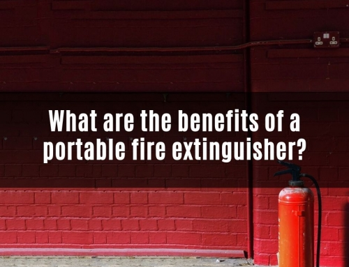 What are the benefits of a portable fire extinguisher?