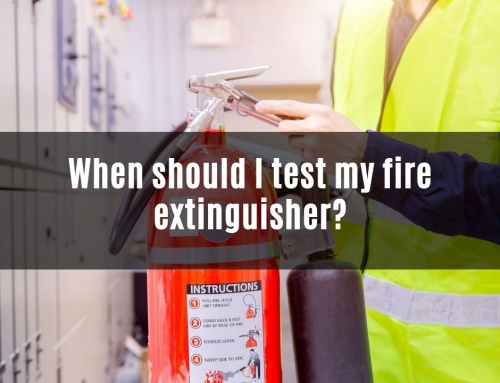 How often should I test my fire extinguisher?