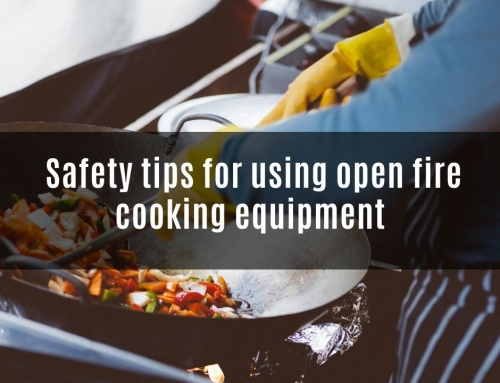 Five safety tips for using open fire cooking equipment