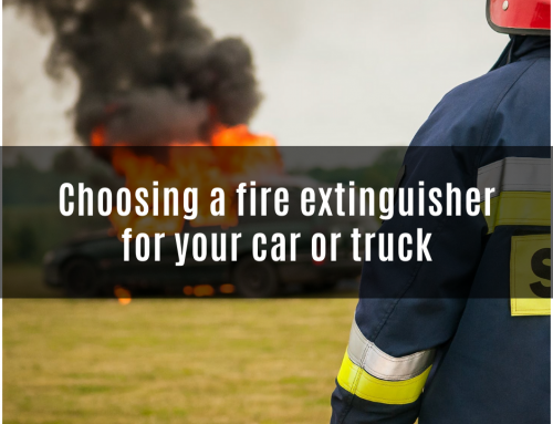 Choosing a fire extinguisher for your car or truck