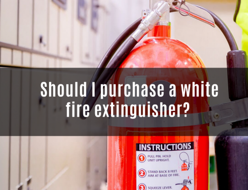 Should I purchase a white fire extinguisher?